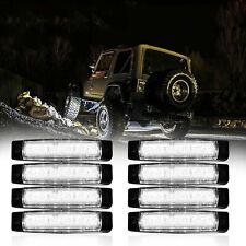 8X White LED Rock Light For JEEP Offroad Truck UTV Bed Under Body Fog Lights 12V