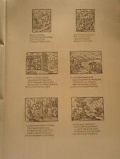 Planche gravure Religion Moyen age Bernard Salomon - Pierre Eskrich Roville lyon