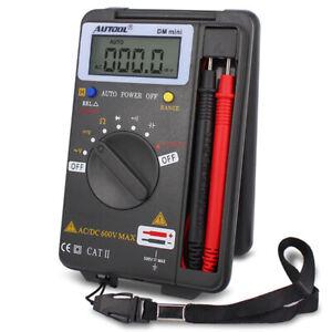 Digital Multimeter Tester AC DC Ohm Voltmeter Ammeter Ohmmeter Auto Range LCD