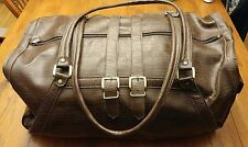 Konica Minolta Leather Carry on Overnight Duffle Bag Camera Rare Collectable