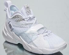 Jordan Why Not? Zer0.3 Men's White Metallic Silver Basketball Sneakers Shoes