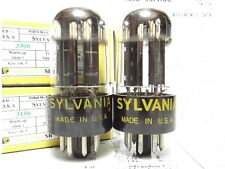 2- 6SN7GTB Sylvania Chrome Top Vintage Tubes Reference Plus Grade High End Pair