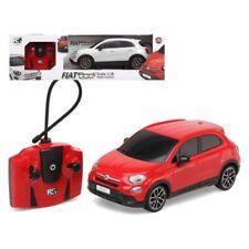 Juguete coche teledirigido con luz y mando radiocontrol Fiat 500 X escala 1 18