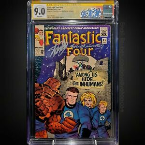 Fantastic Four #45 9.0 White Pages. Signed by Stan Lee & Joe Sinnott!