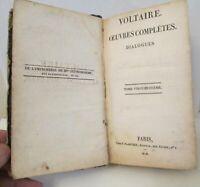 Paris 1818 Antique Book Voltaire Oeuvres Completes Dialogues France Original