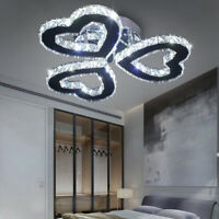 Modern Crystal Chandeliers Lamp Heart-shaped Led Ceiling Lights Pendant Light