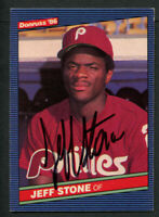 Jeff Stone #259 signed autograph auto 1986 Donruss Baseball Trading Card