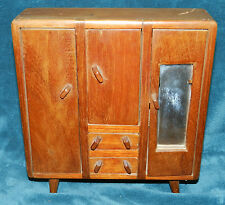 Awesome Antique/Vintage Primitive Wood Doll Amoire/Cupboard!