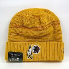 New Era Para hombre NFL Washington Redskins Uniforme Colores Oro Invierno Knit Beanie Hat