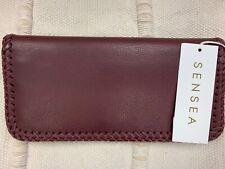 Sensea Naked Traveler Leather Wallet, Happy Hour Burgundy, Brand New