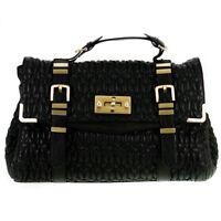 Fiorelli Virginia Black Quilted Medium Satchel Cross Body Bag