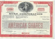 Sony Corporation stock certificate 2 shares