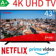 Toshiba 43 Zoll 4K UHD Smart TV LED HDR HDR10 HLG WLAN Bluetooth Fernseher 108cm