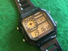 Casio 3299 Men's Watch AE1200WH World Time Multi Function Black Resin Sport