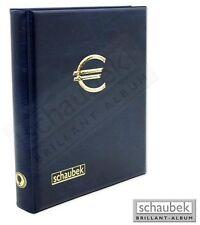 Schaubek 2-Euro-Münzenalbum mit 5 Hüllen für 100 Münzen in blau