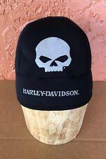 Harley Davidson Black Skull Cap Hat Sz L