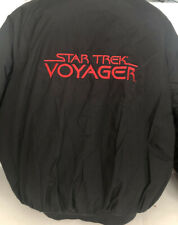 Star Trek Voyager Stitched XL Black Quilted Snap Konica Coat Rare