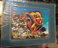 Todd Mcfarlane Vintage Spider-Man Print Store Display 1991 11x14 Matted