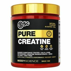 BSC Pure Creatine - Body Science 99.9% Micronised Monohydrate 200g