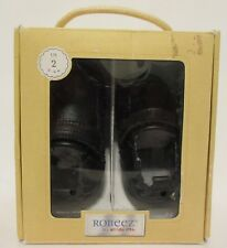 Robeez Robby Black Baby Boys Leather Crib Shoes Size 2 (3-6M) RB41968 Quality!