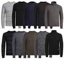 JACK & JONES Mens Wool & Cotton Style Crew Neck Knit Pullover Jumper Sweater Top