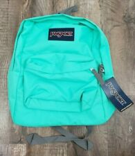 JanSport Superbreak 2016 Seafoam Green Backpack 100 Authentic With Tags
