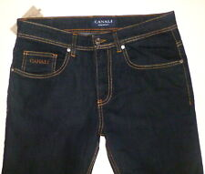 Men's Luxury $375 CANALI Dark Blue JEANS- 31/34- Italy
