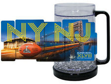 SUPER BOWL XLVIII  SEAHAWKS vs BRONCOS 2014 NY & NJ CRYSTAL PLASTIC FREEZER MUG