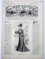 La Mode Illustrée 1903 French Clothing Fashions - Women's Magazine