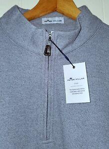 Peter Millar Crown Comfort Quarter Zip Pullover Mens XL NWT Grey