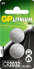 2 x GP CR2032 3V Lithium Button Battery Coin Cell DL/CR 2032 Expiry 2027