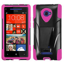 For Windows Phone 8X Hot Pink Inverse Advanced Armor Stand Protector Cover