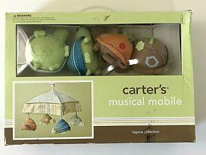 2010 Carter's Laguna Collection Musical Mobile Soft Turtles Green Brown Orange