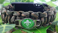 Scouts Badged Bracelet Tactical Edge - Hiking, Camping, Survival Gift