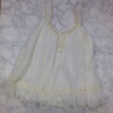 VTG 1950s Bridal honeymoon white short babydoll Womens Sz M NG40
