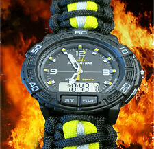 FIREFIGHTER Timex Expedition Bunker Turnout Gear Paracord 550 Band, Adj. Shackle