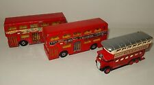 LOt 3 véhicules bus rouge Londres Londonien miniatures MATCHBOX Lesney vintage
