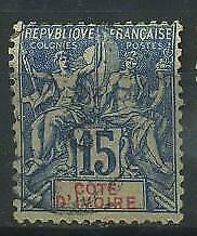French Colonies, Cote d'Ivoire, Ivory Coast 1892 Michel 6 used