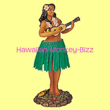 NEW! ~ LEILANI - UKULELE (GREEN SKIRT) HAWAIIAN HULA DASHBOARD DOLL! ~ 7 INCH