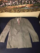 Men's Green Double Breasted 3 Season Suit 40r 34/30