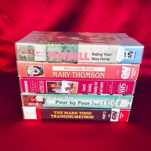 Horse Training VHS Video's x 5 Virginia Leng's Mark Todd Pippa Tunnel Mary Thomp