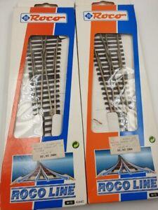2 Weichen ROCO  42440 + 42441  unbespielt in Originalverpackung