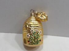 Patricia Breen Ornament Beeskep with Bee Honey Bee Hive 2pc. Mint