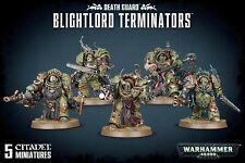 Games Workshop Warhammer 40K Death Guard Blightlord Terminators Miniatures