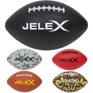 """JELEX """"Touchdown"""" American Football Sport Trainings Ball Braun Schwarz Rot neu"""