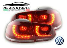 FARI FANALI POSTERIORI A LED GOLF VI 6 GTI LOOK 08-12 TUNING ROSSO CON LED INCL.