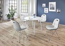 Tischgruppe Anja und PEP Designer Retro Garnitur 60er Jahre 5 teilig Weiß Chrom