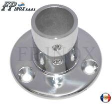 Embase / Platine Ronde 25mm De Luxe Droite 90° inox 316 - A4 --