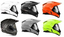 Zoan Adult Solid Duo Dual Sport Motorcycle Helmet All Colors XS-3XL
