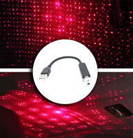 12v USB Car red star roof ceiling lazer projector led light interior lamp mood